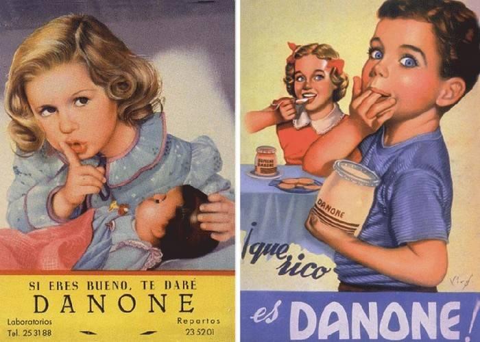 Рекламный плакат Данон начало 20 века