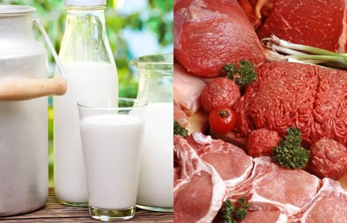 Беларусь-Россия, экспорт молочной продукции, экспорт мясной продукции