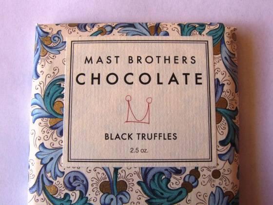 Шоколад с черными трюфелями