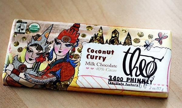 молочный шоколад с карри и поджаренным кокосом